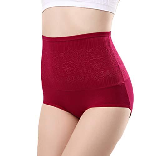 Aiweijia Frauen drucken Postpartale Bauch Kontrolle Körper schützende 5er Pack hohe Taille schlank sexy Slip - 3