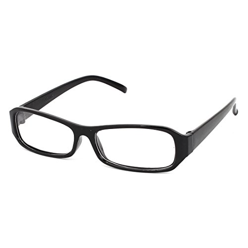 sourcingmap® Plastik Rechteck Len Voll Rand Einzeln Brücke Einfache Gläser Schwarz Klar - Schwarz,Durchsichtig, Damen, Einheitsgröße de -
