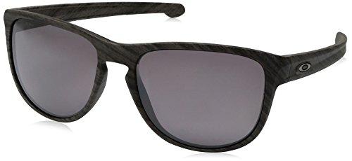 Oakley Herren Sliver R Sonnenbrille, Schwarz (Woodgrain), 57