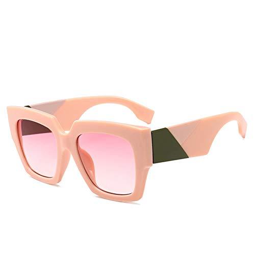BFQCBFSG Damen Sonnenbrille Box Persönlichkeit Monster Sonnenbrille Urlaub Spielen Dicke Linien Beine Retro Big Frame Brille Mode Herrenbrille, B