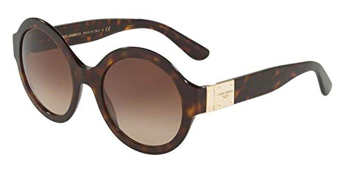 Dolce & Gabbana Damen 0DG4331 Sonnenbrille, Braun (Havana), 53