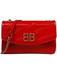 Balenciaga Mujer 5266820ZX146541 Rojo Cuero Bolso De Hombro