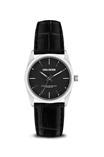 Zadig & Voltaire Unisex Date Quartz Watch with Leather Bracelet – ZVF234