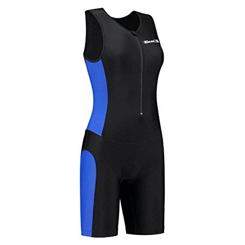 Women's tri-suit frontzip black/blue-XL
