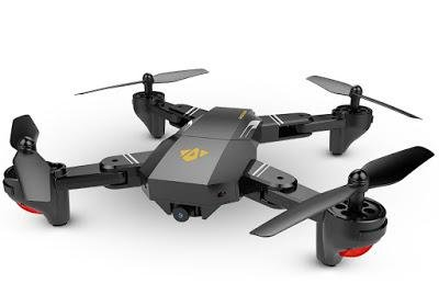 FOLDABLE DRONE with 3 SPARE BATTERIES, HD Cam, Virtual Reality, FPV, GPS, Micro SD memory, MAVIC PRO CLONE from VISUO
