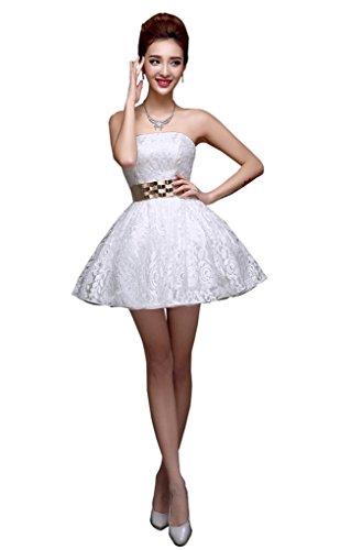 drasawee robe robe courte de soirée bridemsmaid Junior Homecoming robes Blanc