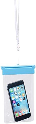 """Somikon Wasserdichte Handyhülle: Wasserdichte Universal-Tasche für iPhone & Smartphone bis 13,4cm/5,3"""" (Wasserdichte Smartphonehülle)"""