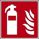 Schild Alu Feuerlöscher F001 nach ISO 7010 150x150mm