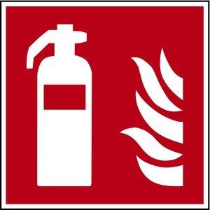 H.Klar Aufkleber Feuerlöscher F001 nach ISO 7010 150x150mm