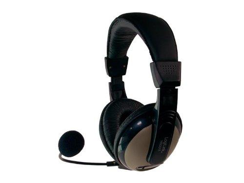 LogiLink High Comfort Stereo Headset mit Mikrofon Schwarz (HS0011) Comfort-stereo