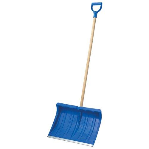 Preisvergleich Produktbild Turk Schneeschieber mit Alukante, blau, 50cm Kunststoff mit Stiel 48505