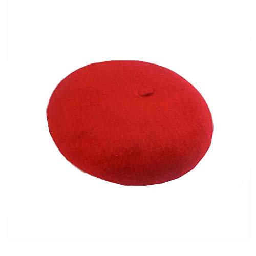 Barett-Hut Der Frauen - Französisches Barett - Künstler-Hut - Für Gelegentlichen Gebrauch (Farbe : Red) ()