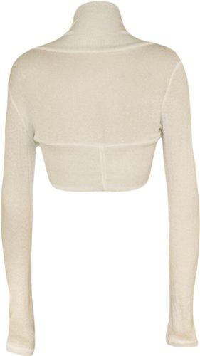 WearAll - Boléro simple à manches longues - Cardigans - Femmes - Tailles 36 à 42 Crème