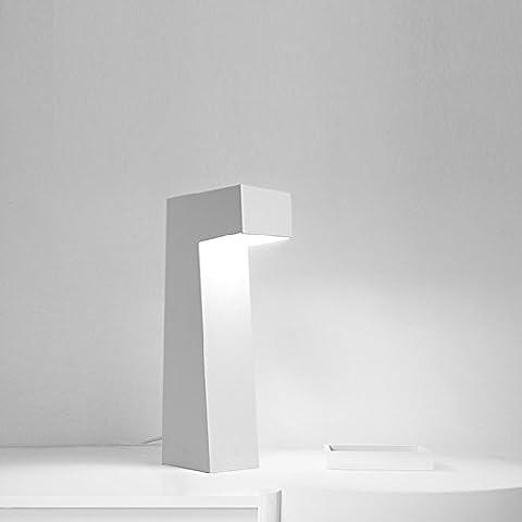 Skandinavische Kreative LED-Eisen Schreibtischlampe nach der Modernen Minimalistischen Kunst Dekorative Tischlampe Designer Handwerk Nachttischlampe Licht- hoch 42cm, Durchmesser 15cm