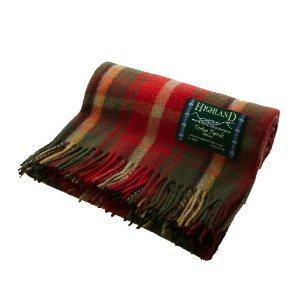 Arce Oscuro de cuadros tartán lana rodillas manta de viaje manta - Tw