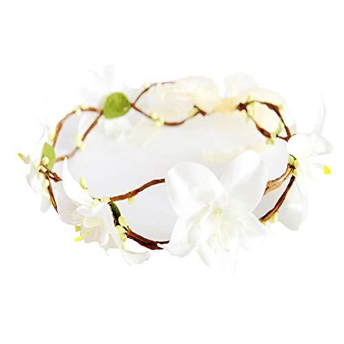 (Xmiral Damen Haarband Mode Simulation Blume Hochzeit Girlande Haar Kopf für Frauen Baby Kinder Handgemachte Rose Blume Stirnband Kranz Kopfschmuck)