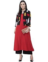 AnjuShree Choice Women Stitched Rayon A-Line Kurti Kurta