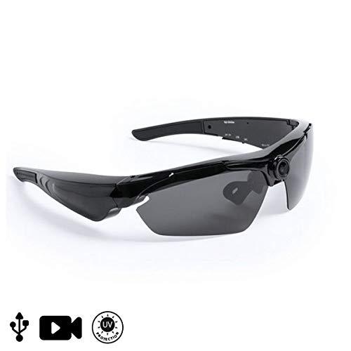 Stylische, moderne Sportbrille, Fahrradbrille oder Sonnenbrille mit HD Kamera inkl. Fernbedienung