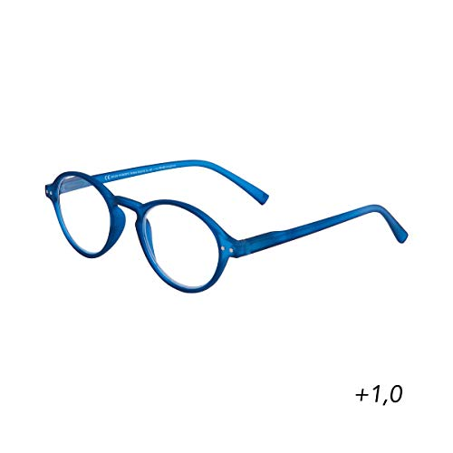 BUTLERS GOOD LOOKING Lesebrille + 1,0 Dioptrien - Stylische Lesehilfe in Schwarz - Unisex Brille zum Lesen aus Kunststoff