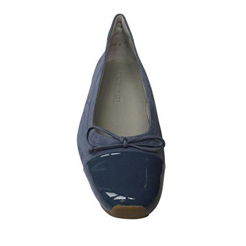 Kennel & Schmenger , Ballerines pour femme Blue Nubuck w/ Patent Toe