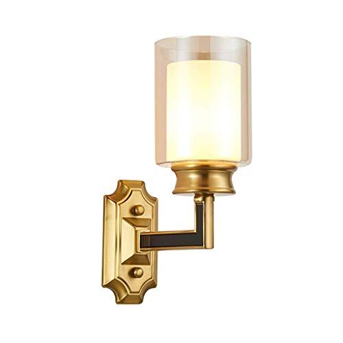 XHCP E27 Glas Wandlampe mit Glasschirm ideal für das Essen im Café der Hotel-Bibliothek, Wohnzimmer (Größe: L), S