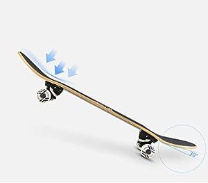 ZO MEBER Longboard Skateboard Komplette Doppel Kick Trick Skateboards Cruiser Penny Kinder Anfänger Longboard Mit Ahorn Deck
