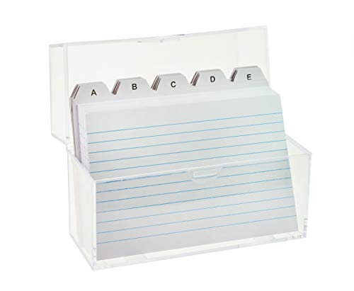 TSI-Caja con 100tarjetas y cartulina índice DIN A6transparente