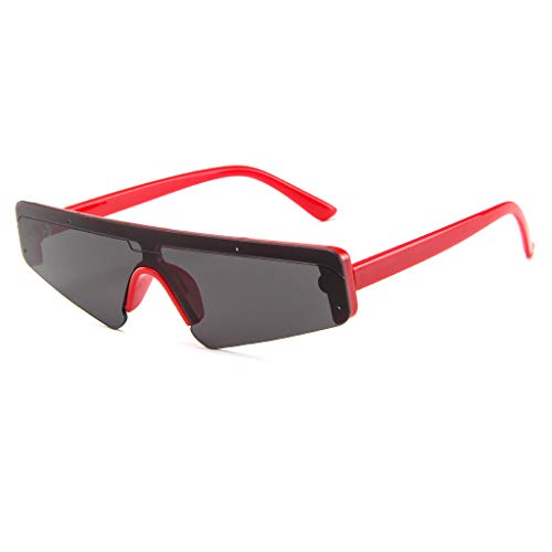 Hhyyq Damen Sonnenbrillen Persönlichkeit Sonnenbrillen Nail Brillen Retro Sonnenbrillen Siamese Sonnenbrillen Cat Eye Brillen Bunte Uv400 Uv Sonnenbrillen(Rot)