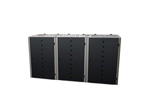 Gero metall Mülltonnenverkleidungen, Mülltonnenbox Eleganza Quad7 für Drei 120 Liter Mülltonnen...