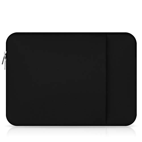TechCode 15,6 Zoll Laptop Hülle, multifunktionale Tablet Aktentasche, die schützende Tasche/Beutel Haut für 15,6''2018/2017/2016 MacBook Ultrabook Netbook(Schwarz)