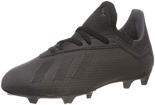 adidas Unisex-Kinder X 18.3 FG Fußballschuhe, Schwarz (Negbás/Ftwbla 000), 35 EU