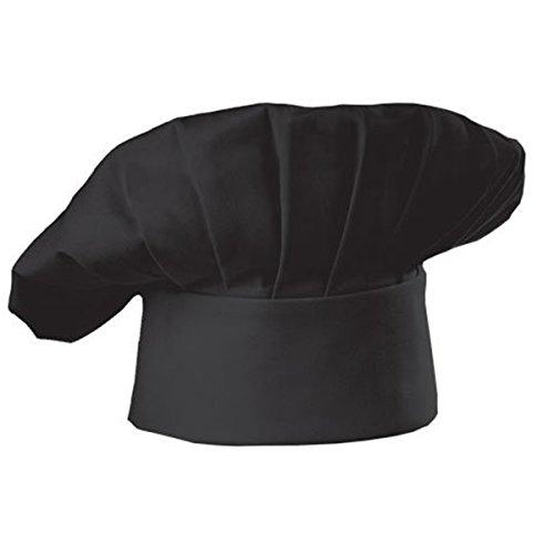 tellbare Größe Poly Baumwolle Erwachsenen Küche Ware Kochen Hat, schwarz ()