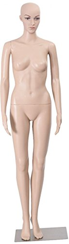 Sajani Premium Female Straight Full body Mannequin Display Dummy 5.8 Feet (Skin Colour)
