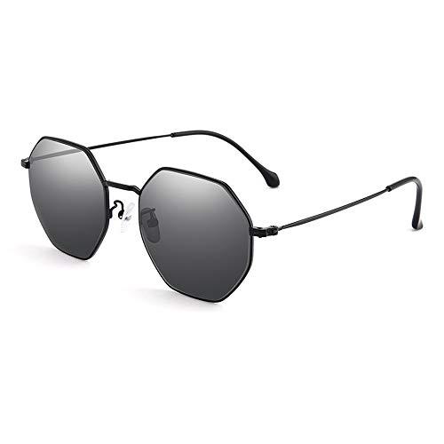MC Sonnenbrillen Sonnenbrille männliche/weibliche Strahlung Retro-Polygon-Tintenlinse polarisiert UV-Schutz Polarisierte Sonnenbrille (Color : B)