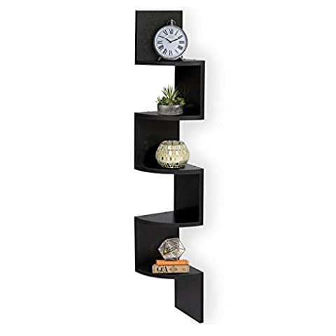 Floating Corner Shelves Set of 5, Keepwin 5 Tier Corner Wall Mount Shelf Creative Home Storage Products