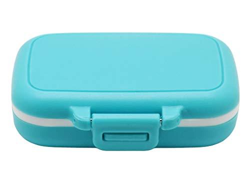 Meta-U Kleine Pillendose Ergänzung für Tasche oder Geldbeutel - 3 herausnehmbare Fächer Reise Medikamente Tragetasche - Tägliche Vitamin Organizer Box (Blau) preisvergleich