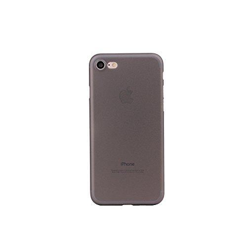 COVER IPHONE 8/iPhone 7in Nero Opaco, Bianco, Grigio, Blu Semitrasparente | On-Net iPhone Custodia 0,3mm | stabile Custodia Case Back Cover iPhone di custodia per smartphone nero