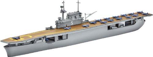 Revell Modellbausatz 05800 U.S.S Yorktown (CV-5) - Maqueta de Barco portaaviones (Escala 1:1200) Importado de Alemania