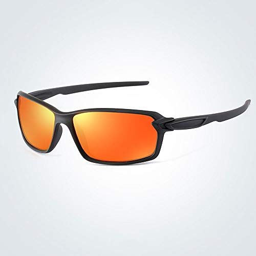 Seonex Klassische Herren PC Resin Sonnenschirm Sanddicht Staubdicht Sonnenbrille Fahrer Anti-High-Light Polarisierte Sonnenbrille Persönlichkeit Retro Outdoor Sports Reiten Bergsteigen Skifahren Campi