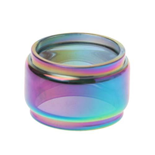 Regenbogen Transparente Fatboy Glas Tube Glas Tank Elektronische Zigarette Vape Zubehör Für Fireluke Aero Mesh 5ML Vaporizer Zerstäuber -
