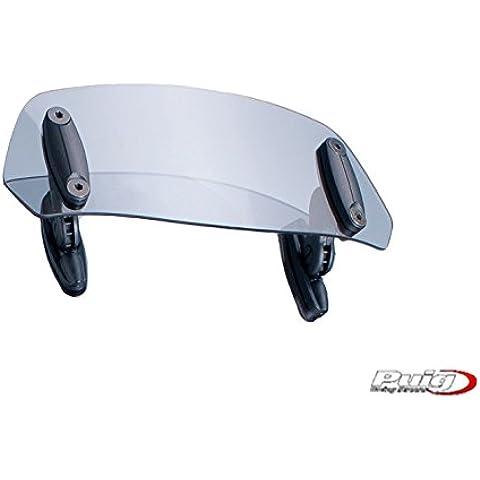 Puig 6320H - Parabrezza moto, multi regolabile, fissato con viti, 230 x 90 mm