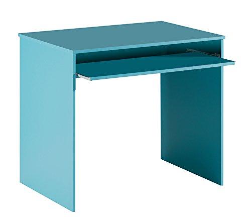 13casa hugo scrivania, melamina, blu, 90x54x79 cm