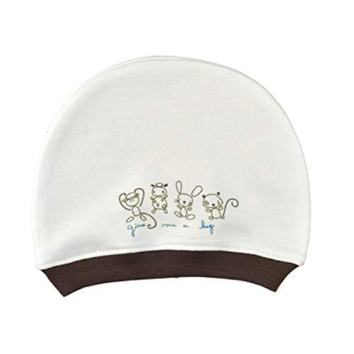 For Babies - Baby Neugeborene Mütze - Mädchen und Jungen - Erstlingsmütze -100% Bio-Baumwolle-Made in EU (give me a hug blau)