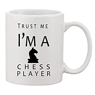 KRISSY Trust Me I'm A Chess Player Coffee Mug Cup Kaffeetasse