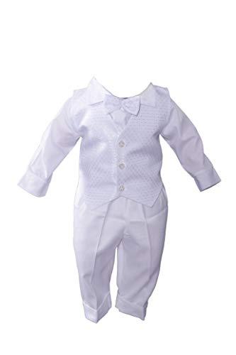 Miss Cocolina Baby Taufanzug Weiß Anzug Taufe Festanzug Taufset (86/92 (28))