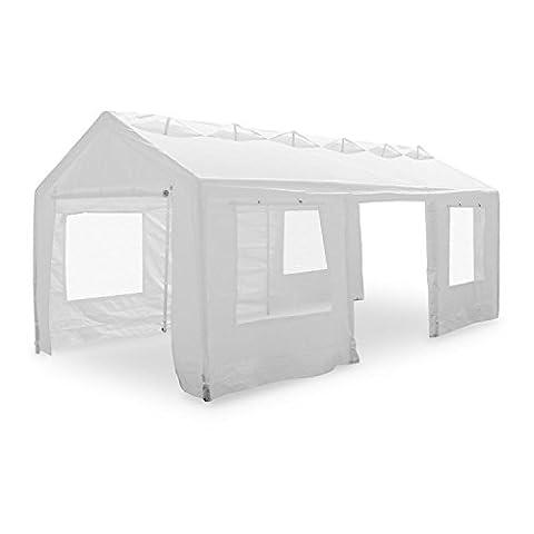 Blumfeldt Lofty Palace Pavilion Party Tent 3x6m PE Fireproof Canopy Ventilation - Verniciatura A Polvere In Fibra Di Vetro