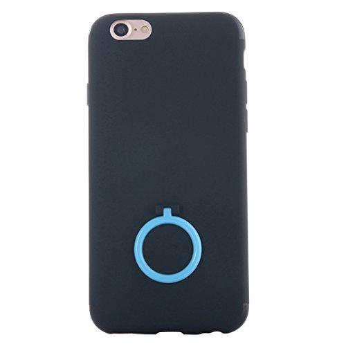 IPhone 7 Fall Ultra dünner weicher TPU schützender rückseitiger Abdeckungs-Fall mit Ring-Halter-Standplatz für iPhone 7 Fall by diebelleu ( Color : White ) Baby blue