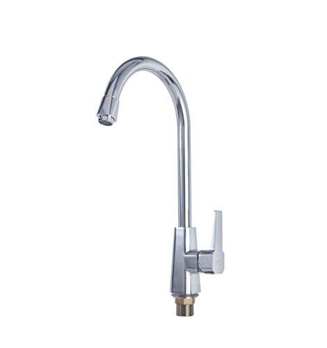 BLYC- Europeo moderno Migliori maniglia moderna Cucina commerciale lavandino rubinetto in acciaio con nylon tubo singolo