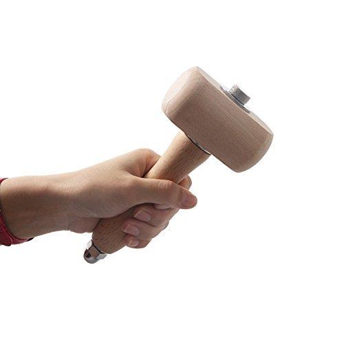Buche Holz Mallet Leder Craft Arbeiten Hammer Holz Carvers mallet-ideal f¨¹r Holzbearbeitung Zimmerei (Holz-meißel Mallet)