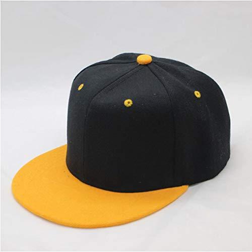 WYKDA Venta al por Mayor Hip Hop Gorra Lisa Plana Adulto Color sólido Sombrero de béisbol Parcheado Mujeres y Hombres Logo Llano Personalizado Snapback Cap 9 Colos